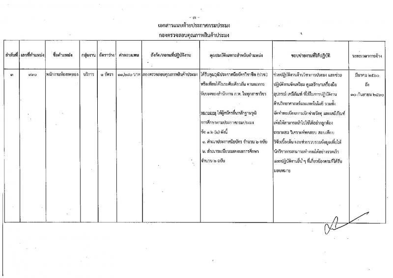 กรมประมง ประกาศรับสมัครบุคคลเพื่อเลือกสรรเป็นพนักงานราชการทั่วไป จำนวน 3 อัตรา (วุฒิ ปวช. ) รับสมัครตั้งแต่วันที่ 1-9 ก.พ. 2560