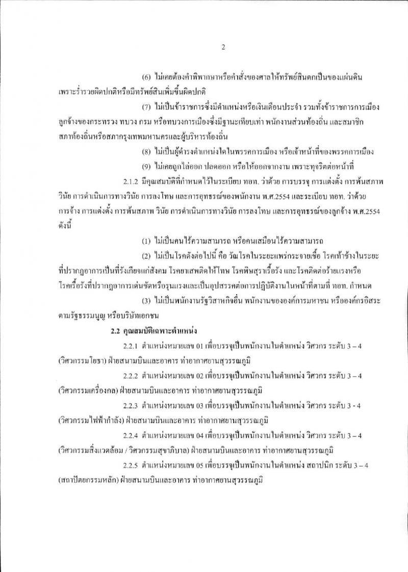 บริษัท ท่าอากาศยานไทย จำกัด (มหาชน) ประกาศรับสมัครบุคคลเพื่อคัดเลือกเป็นพนักงานและลูกจ้างชั่วคราว จำนวน 18 ตำแหน่ง 44 อัตรา (วุฒิ ปวช. ปวส. ป.ตรี) รับสมัครสอบตั้งแต่วันที่ 1-31 มี.ค. 2560