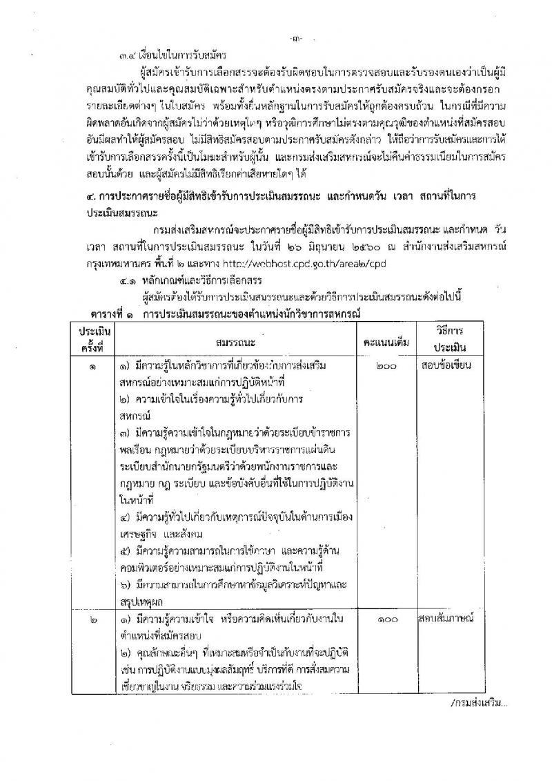 กรมส่งเสริมสหกรณ์ ประกาศรับสมัครบุคคลเพื่อเลือกสรรเป็นพนักงานราชการทั่วไป ตำแหน่ง นักวิชาการสหกรณ์ จำนวน 4 อัตรา (วุฒิ ป.ตรี) รับสมัครสอบตั้งแต่วันที่ 19-23 มิ.ย. 2560