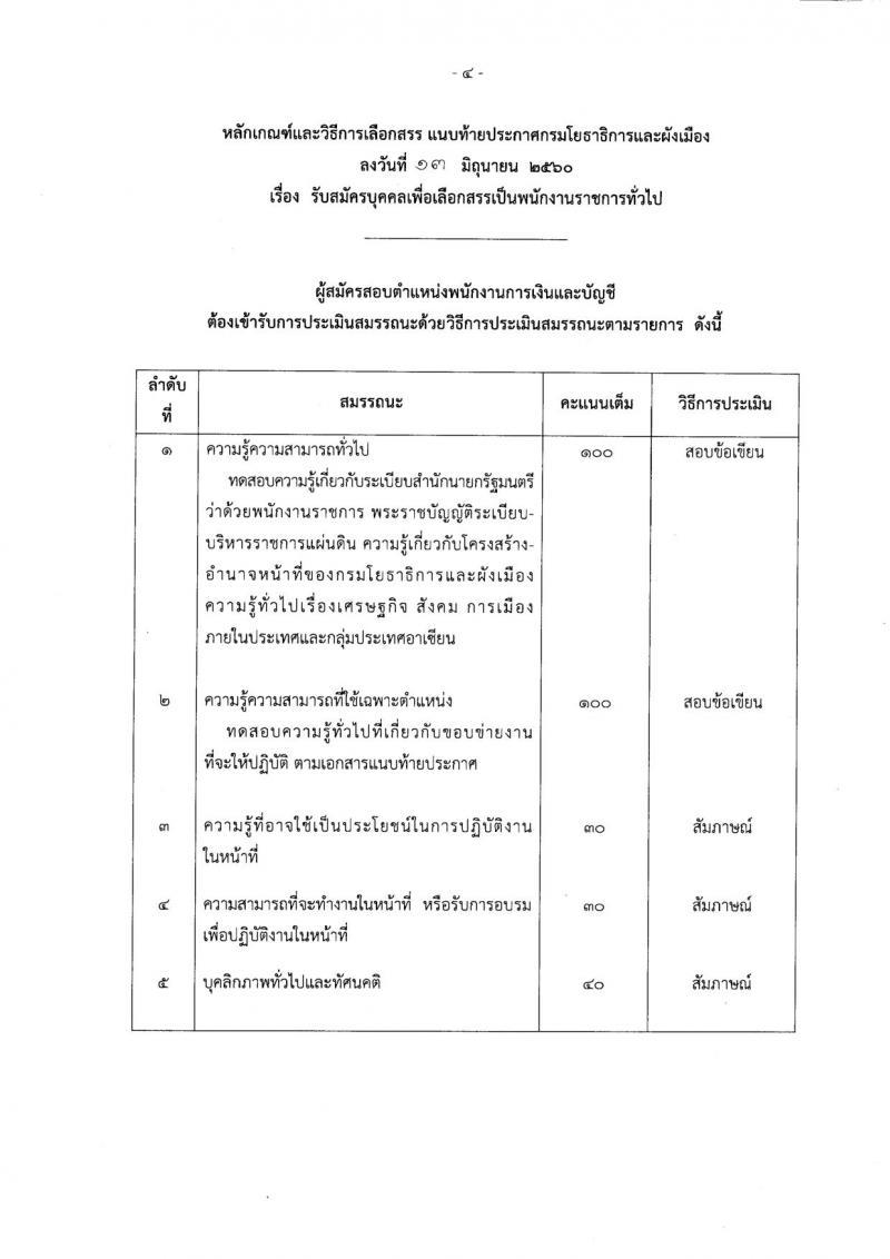 กรมโยธาธิการและผังเมือง ประกาศรับสมัครบุคคลเพื่อเลือกสรรเป็นพนักงานราชการทั่วไป จำนวน 4 ตำแหน่ง 4 อัตรา (วุฒิ ปวท. ปวส. ป.ตรี ป.โท) รับสมัครสอบตั้งแต่วันที่ 22 มิ.ย.-7 ก.ค. 2560