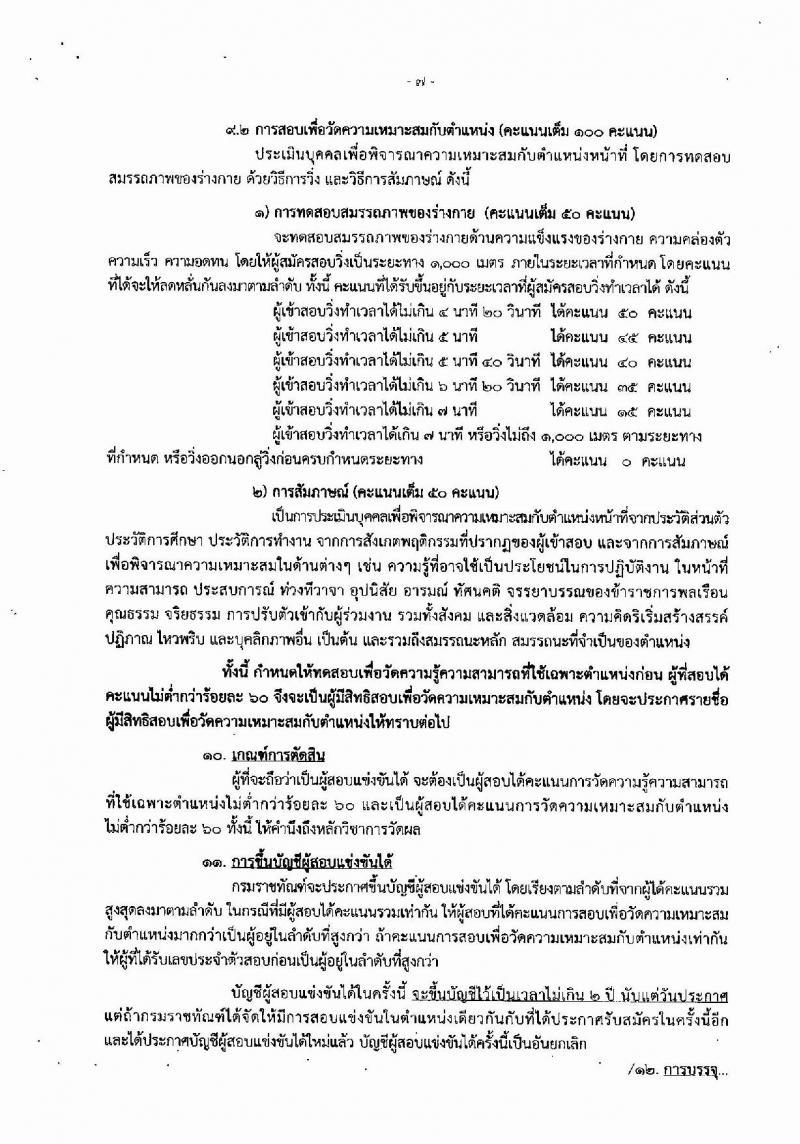 กรมราชทัณฑ์ ประกาศรับสมัครสอบแข่งขันเพื่อบรรจุและแต่งตั้งบุคคลเข้ารับราชการตำแหน่งเจ้าพนักงานราชทัณฑ์ปฏิบัติงาน จำนวนครั้งแรก 300 อัตรา (วุฒิ ปวท. ปวส. อนุปริญญา) รับสมัครสอบทางอินเทอร์เน็ต ตั้งแต่วันที่ 27 พ.ย. – 19 ธ.ค. 2560