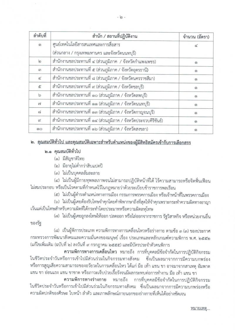 กรมชลประทาน ประกาศรับสมัครบุคคล (คนพิการ) เพื่อเลือกสรรเป็นพนักงานราชการทั่วไป จำนวน 13 อัตรา (วุฒิ ปวช. หรือคุณวุฒิในระดับเดียวกัน) รับสมัครสอบทางอินเทอร์เน็ต ตั้งแต่วันที่ 8-14 ก.พ. 2561