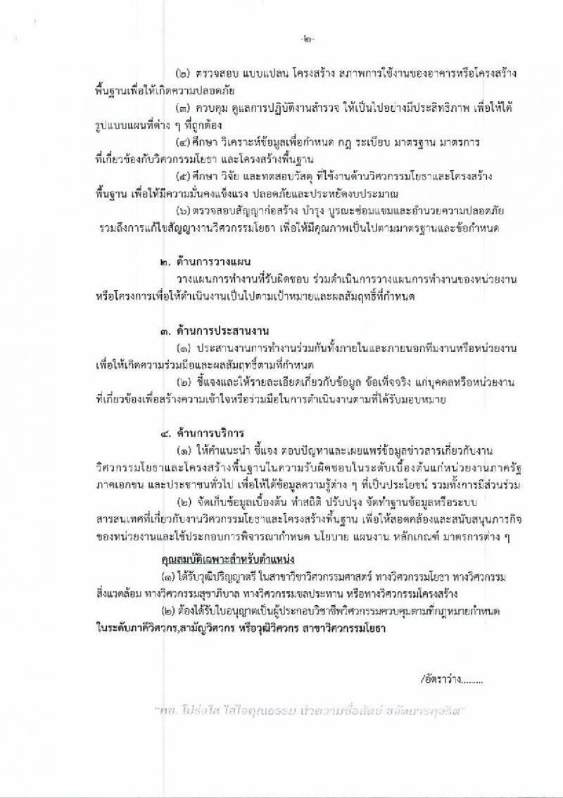 กรมทางหลวงชนบท รับสมัครบุคคลเพื่อเลือกสรรเป็นพนักงานราชการทั่วไป จำนวน 2 ตำแหน่ง 4 อัตรา (วุฒิ ปวส. ป.ตรี) รับสมัครสอบตั้งแต่วันที่ 30 ม.ค. – 6 ก.พ. 2562