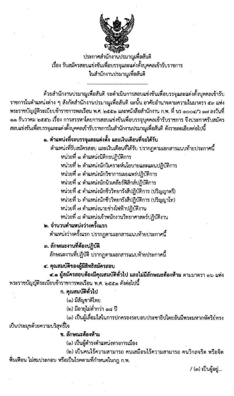 สำนักงานปรมาณูเพื่อสันติ รับสมัครสอบแข่งขันเพื่อบรรจุและแต่งตั้งบุคคลเข้ารับราชการ จำนวน 8 ตำแหน่ง 13 อัตรา (วุฒิ ปวส. ป.ตรี ป.โท) รับสมัครสอบทางอินเทอร์เน็ต ตั้งแต่วันที่ 23 ธ.ค. 62 – 17 ม.ค. 63